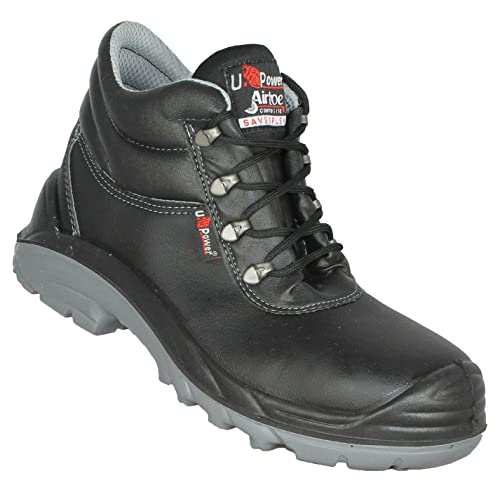 811c2bcf5d45e3 U-Power Enough Safety Boot Composite Toe Cap S3 Men Work Shoe Easy-Wipe