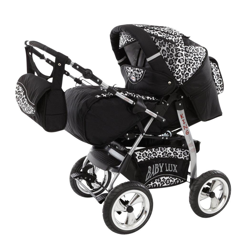 Lux4Kids Kinderwagen Set Babywanne Sportsitz Babyschale Wickeltasche Matratze Buggy optionales Zubehö r Megaset ü ber 400 Auswahlmö glichkeiten 3in1 oder 2in1 Set Made in EU iCaddy Beige & Karo