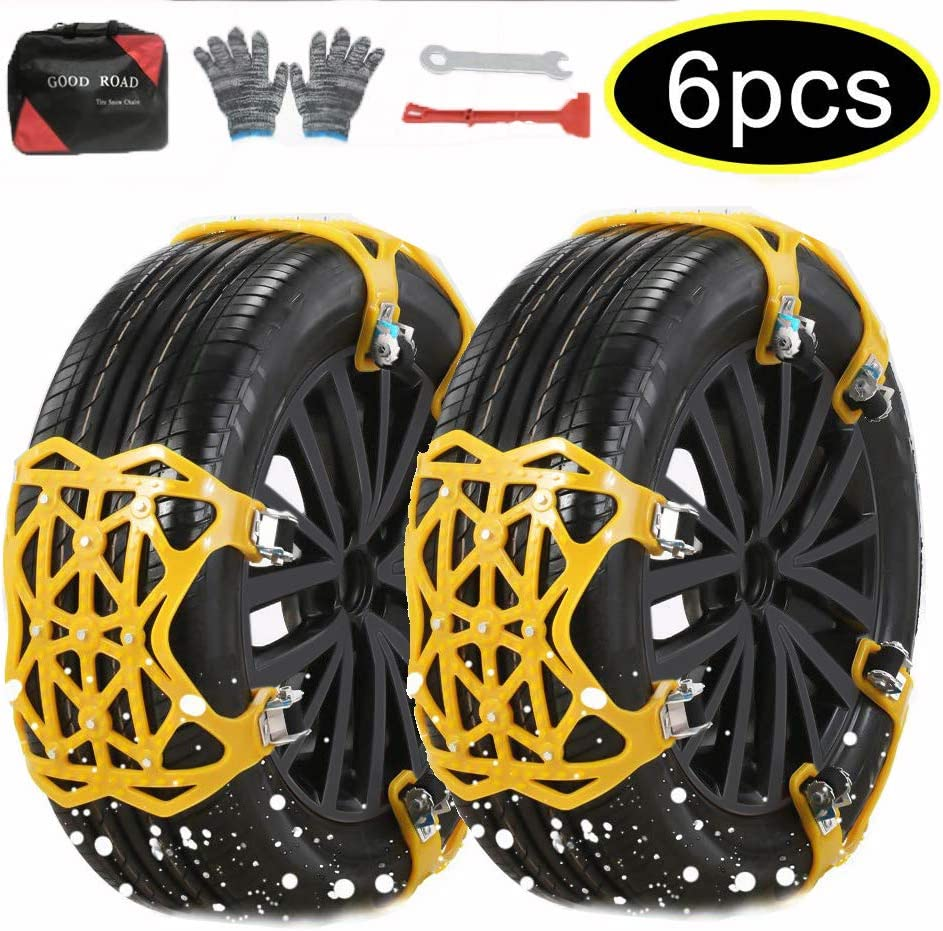 Secure Connection Increase Stability Weilov Car Anti-skid Belt Tire Chain Exterior Accessories Snow Chain Upgrade Gear Universal Safe Protection A