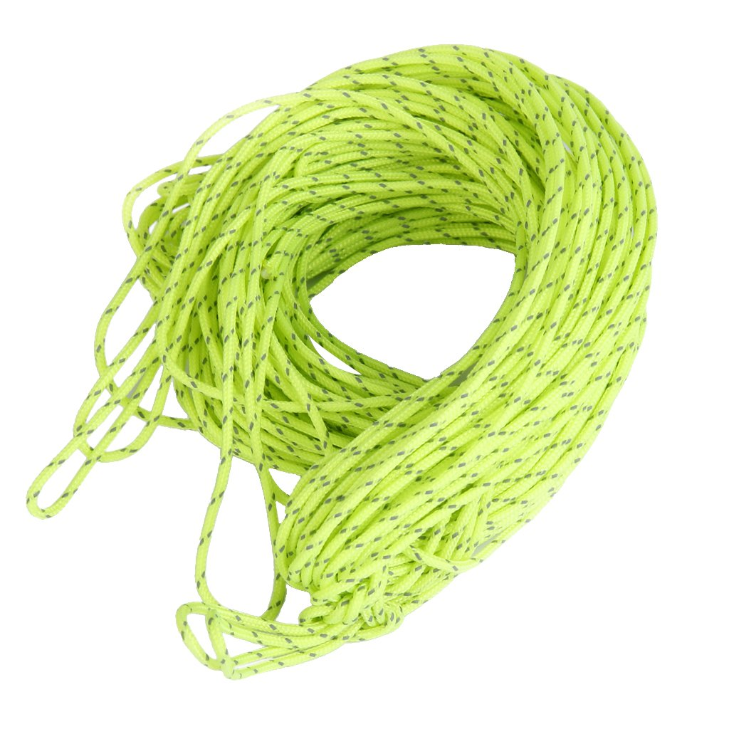 20M Reflective Cord Guy Rope for Camping Awning Tent 1.8MM Green