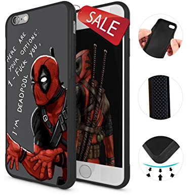 cheap for discount cd6c7 0f51c Onelee - Deadpool Marvel comic superhero iPhone 6 Case & Cover - iPhone 6  Case - Black 9