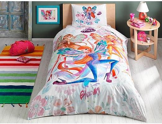 Winx Wow Licensed Duvet Cover Set 100/% Cotton Ranforce Fabric Single Size 3-Pieces Bedding Set