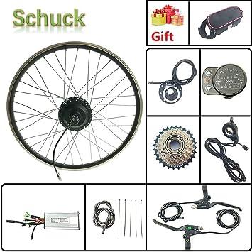 Schuck 48V500W Kit de Bicicleta eléctrica Kit de Rueda de Motor Giratorio Trasero de 24 Pulgadas Kit de Bicicleta eléctrica Piezas de Bicicleta eléctrica Pantalla LED900S: Amazon.es: Deportes y aire libre