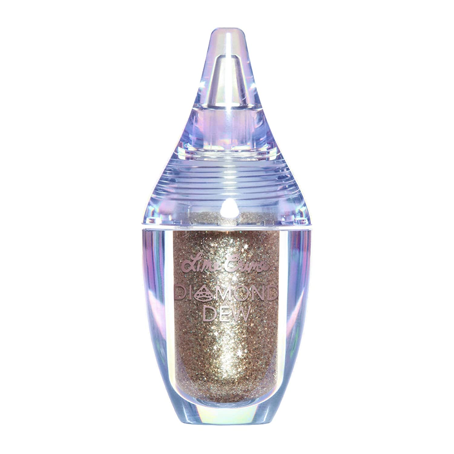 Lime Crime Diamond Dew Glitter Eyeshadow, Starlight - Iridescent Lid Topper Gliver- Gold/Silver - Reflective Sparkle Shadow for Lids, Cheeks & Body - Won't Smudge or Crease - Vegan - 0.14 fl oz
