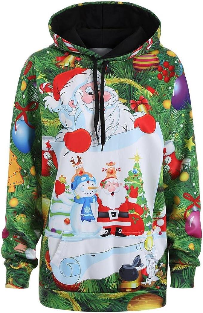 Lulupi Unisex 3D Druck Sweatshirts Weihnachten Pullover Damen Herren Festliche Neuheit Rudolph Schneemann Bedruckte Weihnachtspullover Christmas Sweater Jumper Oberteil