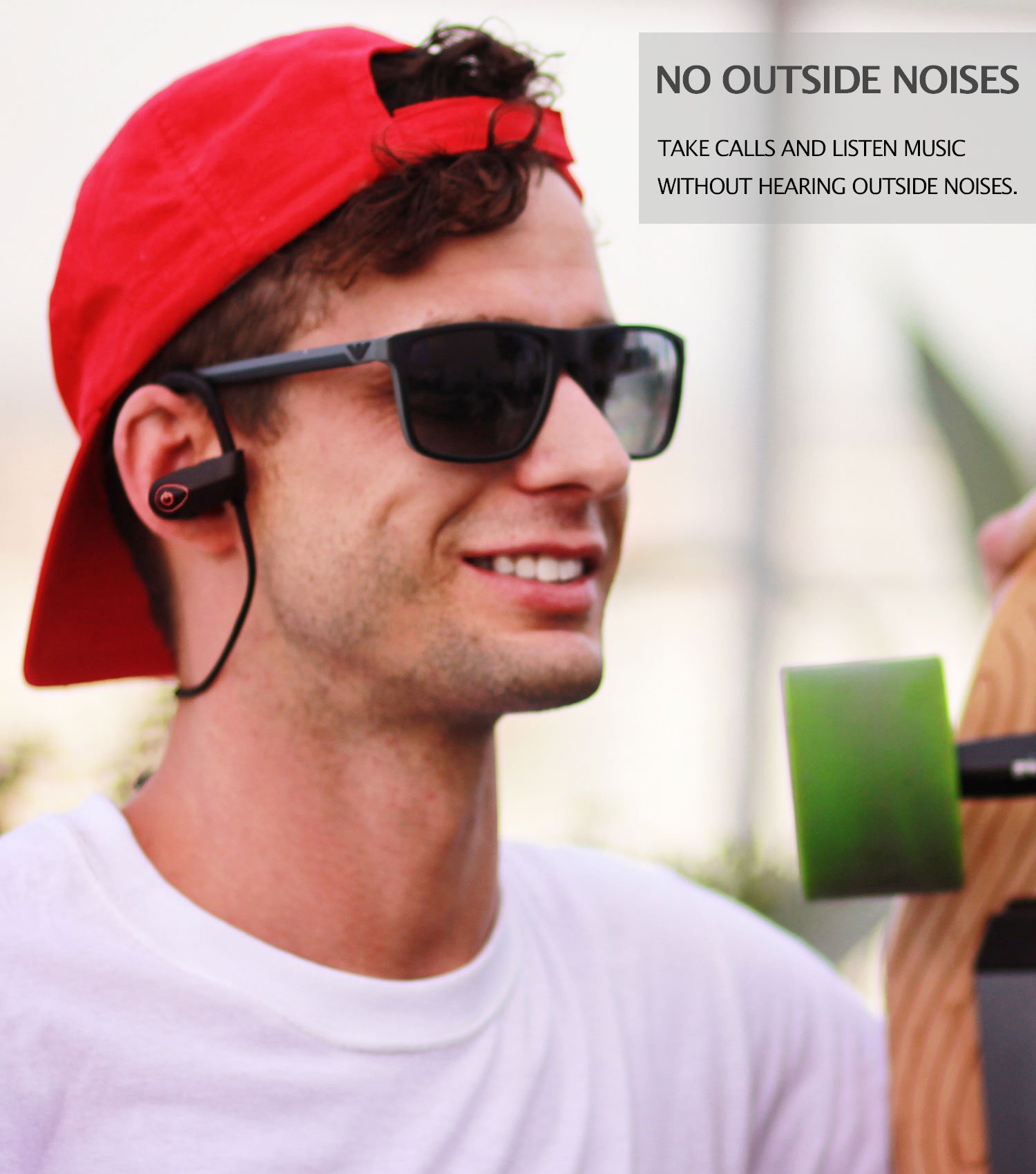 ONE DAY SALE!! - MX10 Bluetooth Iphone Headphones - Ear Buds Wireless Headphones - Designed For Running and Sport Workouts - Built-in Microphone With Noise Cancellation - IPX7 WaterProof by MultiTed (Image #6)