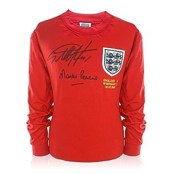 Camiseta de fútbol firmada por Geoff Hurst y Martin Peters