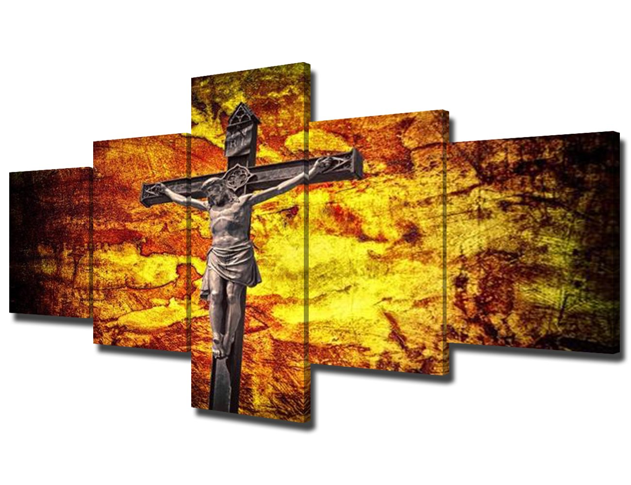 Amazon.com: Decorations for Church Jesus Picture 5 Piece Canvas Wall ...