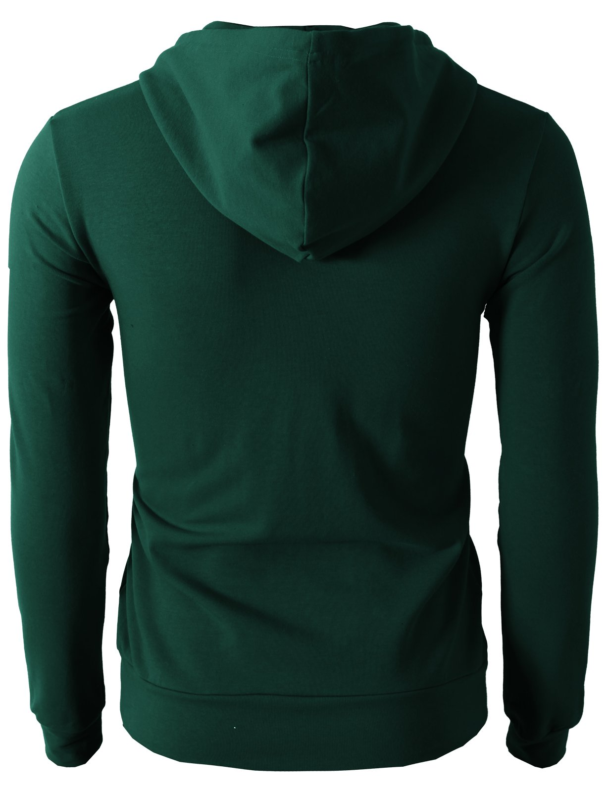 H2H Men's Casual Striped Drawstring Hooded And Zipper Closure Hoodies FORESTGREEN US XL/Asia XXXL (JNSK24) by H2H (Image #4)