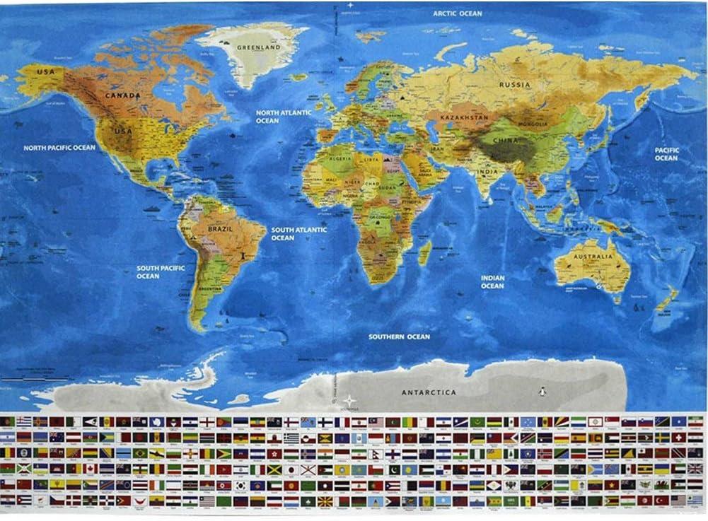 Mapa del Mundo Educativo Rasca Mapa: Amazon.es: Juguetes y juegos
