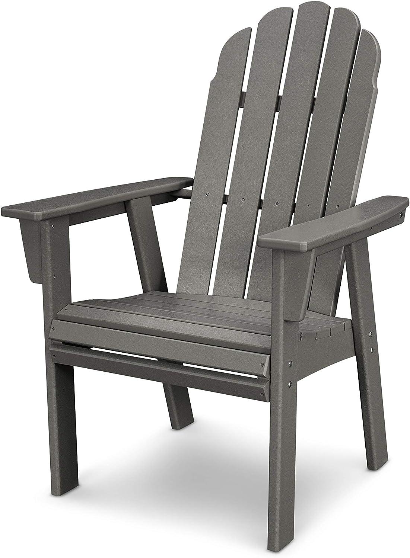POLYWOOD Vineyard Adirondack Dining Chair (Slate Grey)