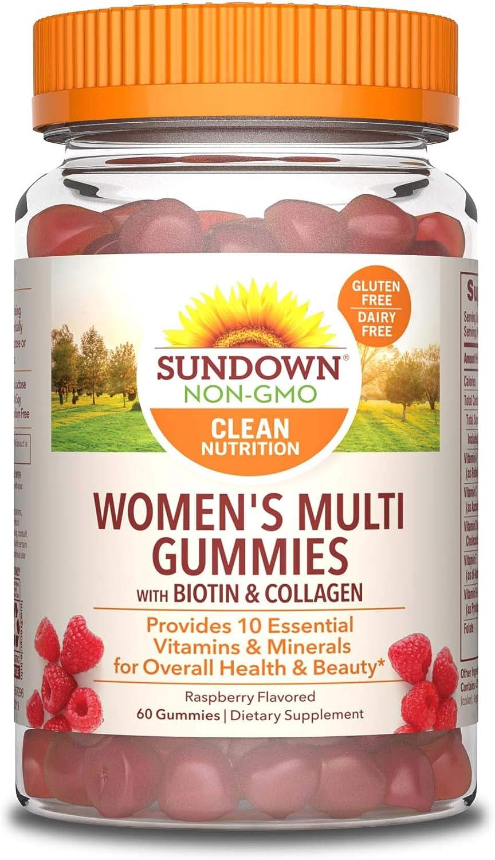 Sundown Women s Multivitamin with Biotin, 60 Gummies Pack of 3