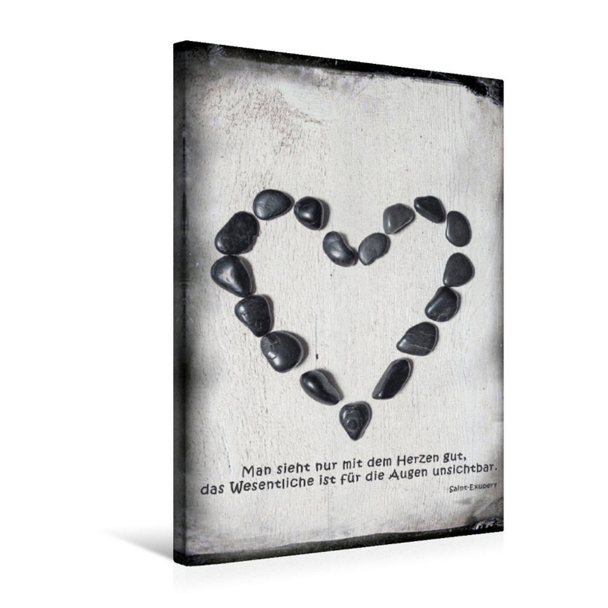 Calvendo Premium 50 Textil-Leinwand 50 Premium cm x 75 cm hoch Ein Motiv aus Dem Kalender Die Liebe und Das Herz   Wandbild, Bild auf Keilrahmen, Fertigbild auf Echter Leinwand, Leinwanddruck Orte Orte 11b0aa