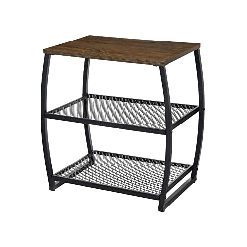 Side End Tables Living Room, Vintage Accent Table with Storage Shelf, Heavy Duty Living Room Tables for Coffee Snack Laptop