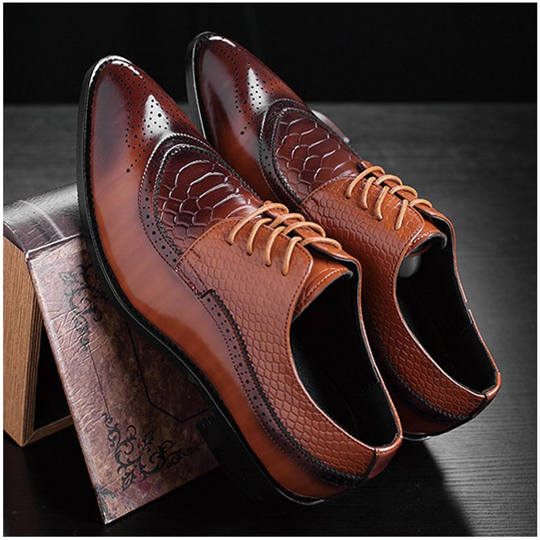 Tribangke Men's Classic Modern Brogue Oxford Wingtip Lace up Dress Shoes:  Amazon.co.uk: Shoes & Bags