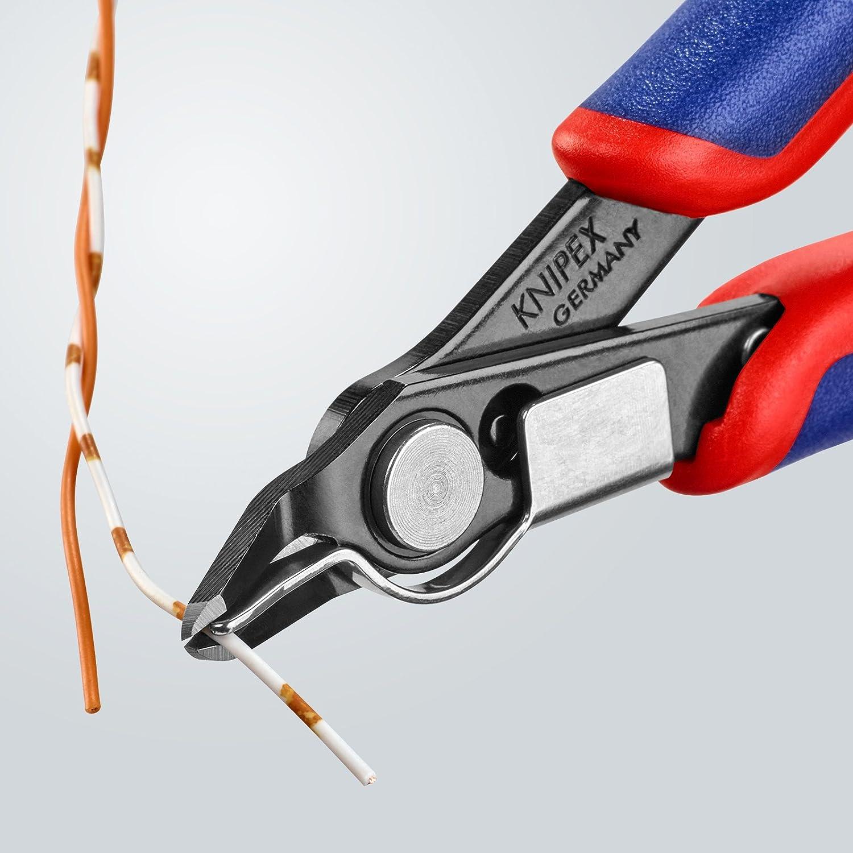 KNIPEX 78 41 125 Electronic Super Knips/® br/üniert mit Mehrkomponenten-H/üllen 125 mm