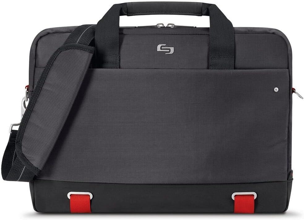 Solo Pro Aegis Laptop Briefcase Rfid Pocket 15.6 , Black