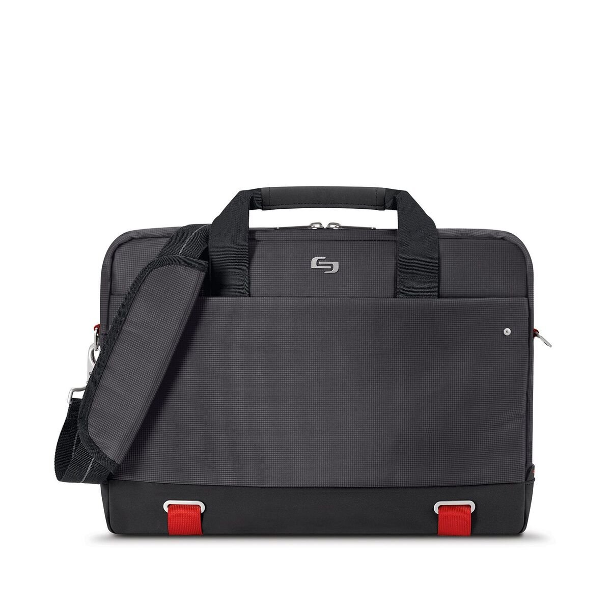 Solo Pro Aegis Laptop Briefcase Rfid Pocket 15.6'', Black