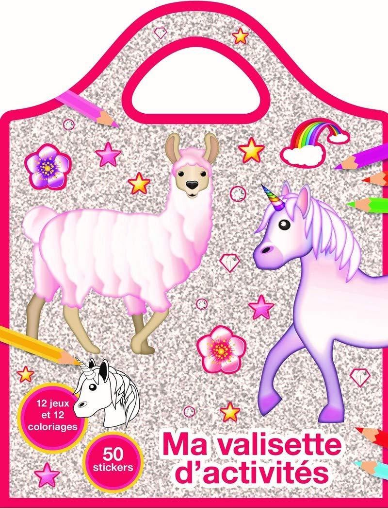Lama Licorne Emoji Valisette Coloriages Et Jeux Amazon Fr Pimchou Livres