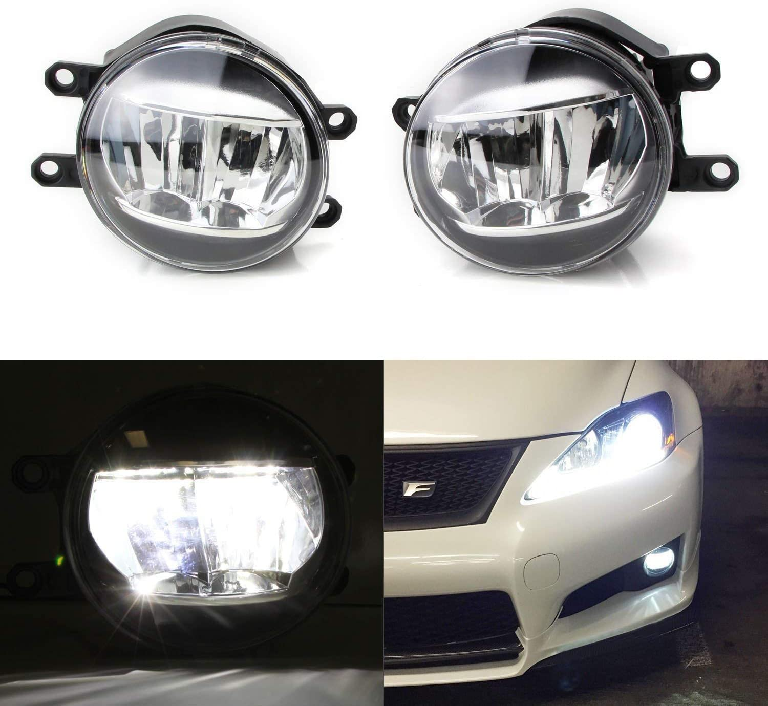 Left Driver Fog Lights Driving Lamp Clear for Toyota Camry Yaris Lexus Sienna