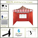 10u0027x10u0027 Pop up Canopy Wedding Party Tent Gazebo EZ Red Stripe - F  sc 1 st  Amazon.com & Amazon.com : 10u0027x10u0027 Pop up Canopy Party Tent Instant Gazebo Ez CS ...