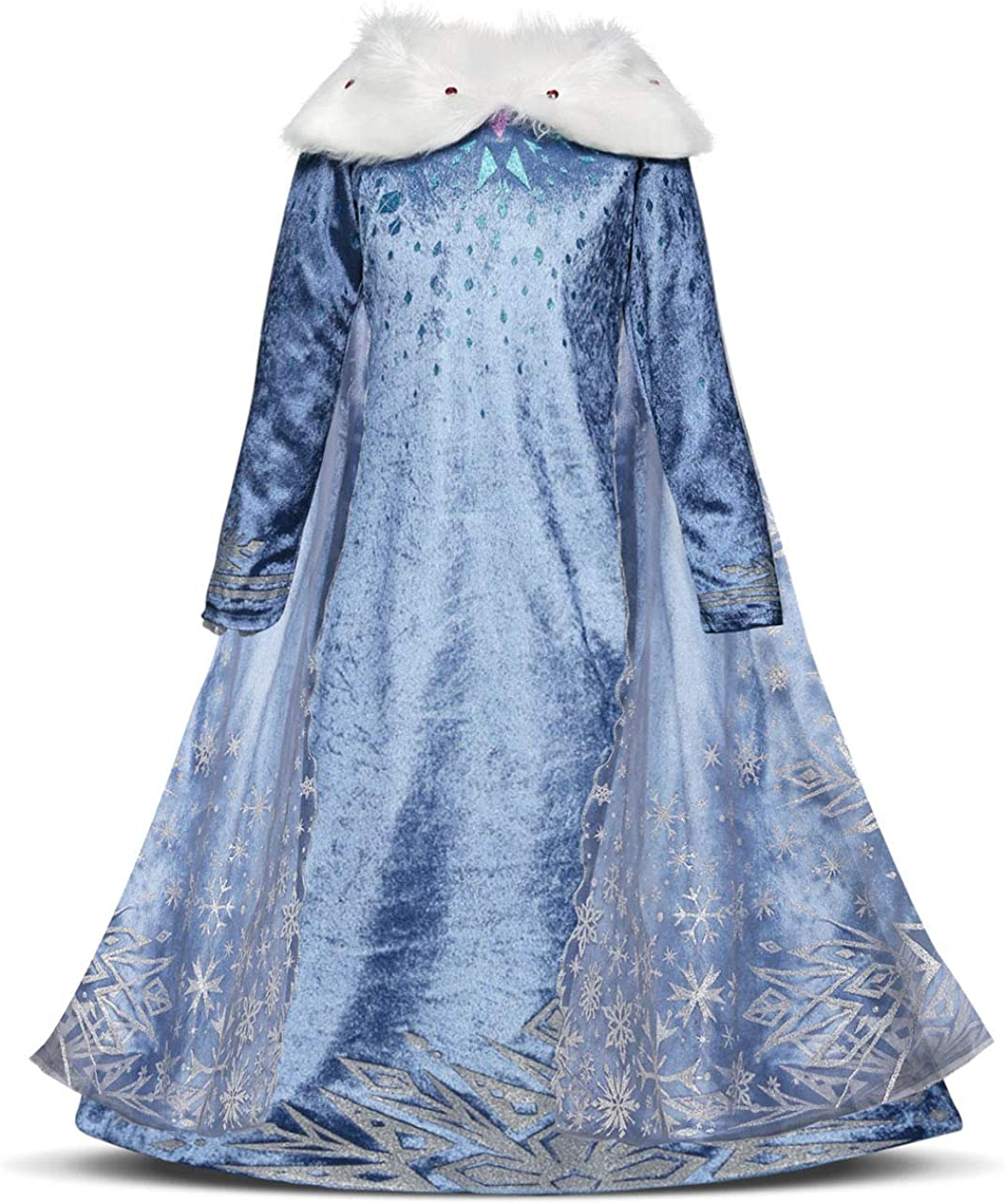 HenzWorld Little Girls Clothes Dress Costume Pajamas Nightgowns Princess Birthday Cosplay Party Outfits Blue