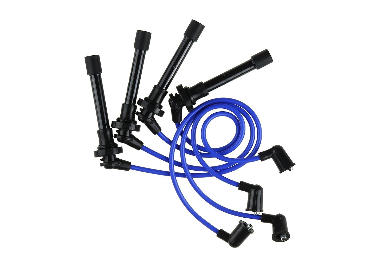 Premium Spark Plug Wire Set, Blue, 97-01 Nissan Altima 2.4L L4 Shankly