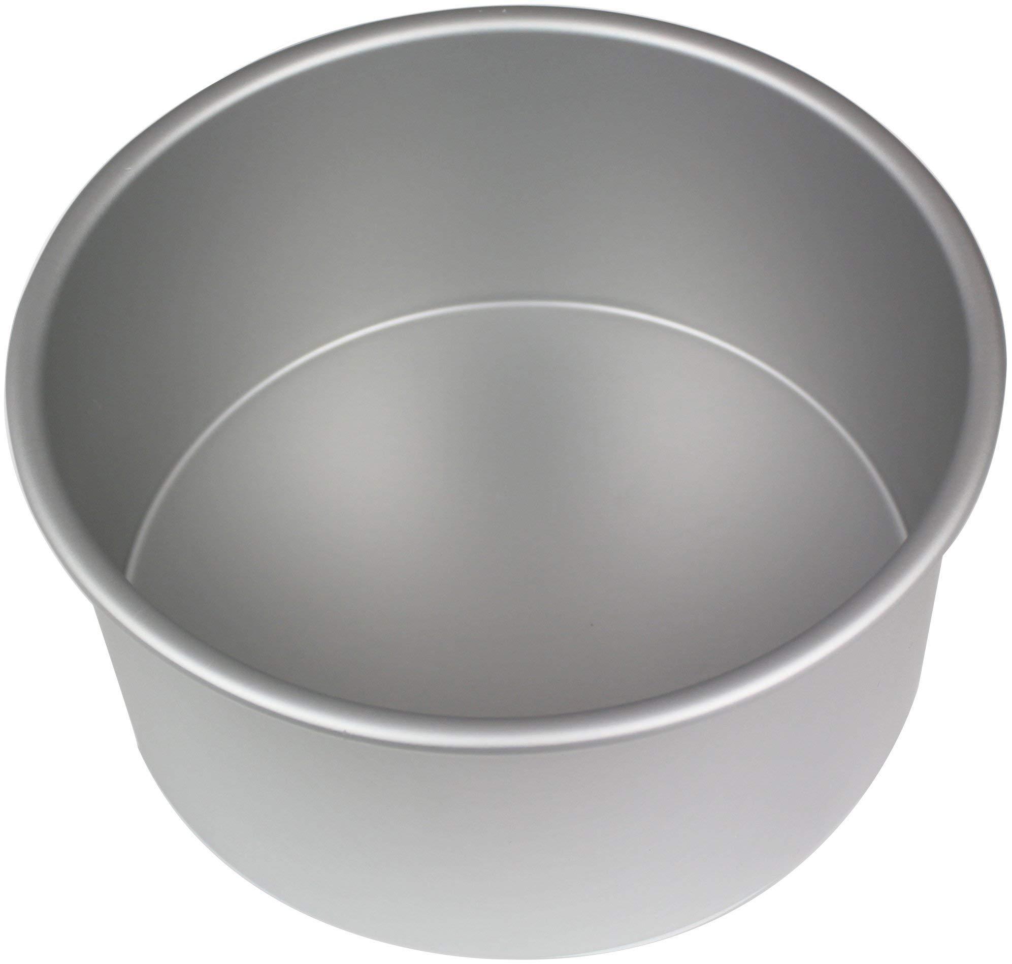 PME RND084 Seamless Professional Aluminum Baking, 8'' x 4'' Anodised Aluminium Round Cake Pan 8 x 4-Inch Deep, 8, Silver by PME