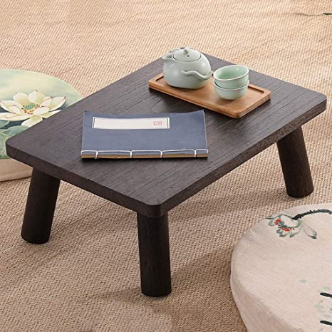 Mesa de té Cuadrada de paulonia Japonesa, fácil de ensamblar ...