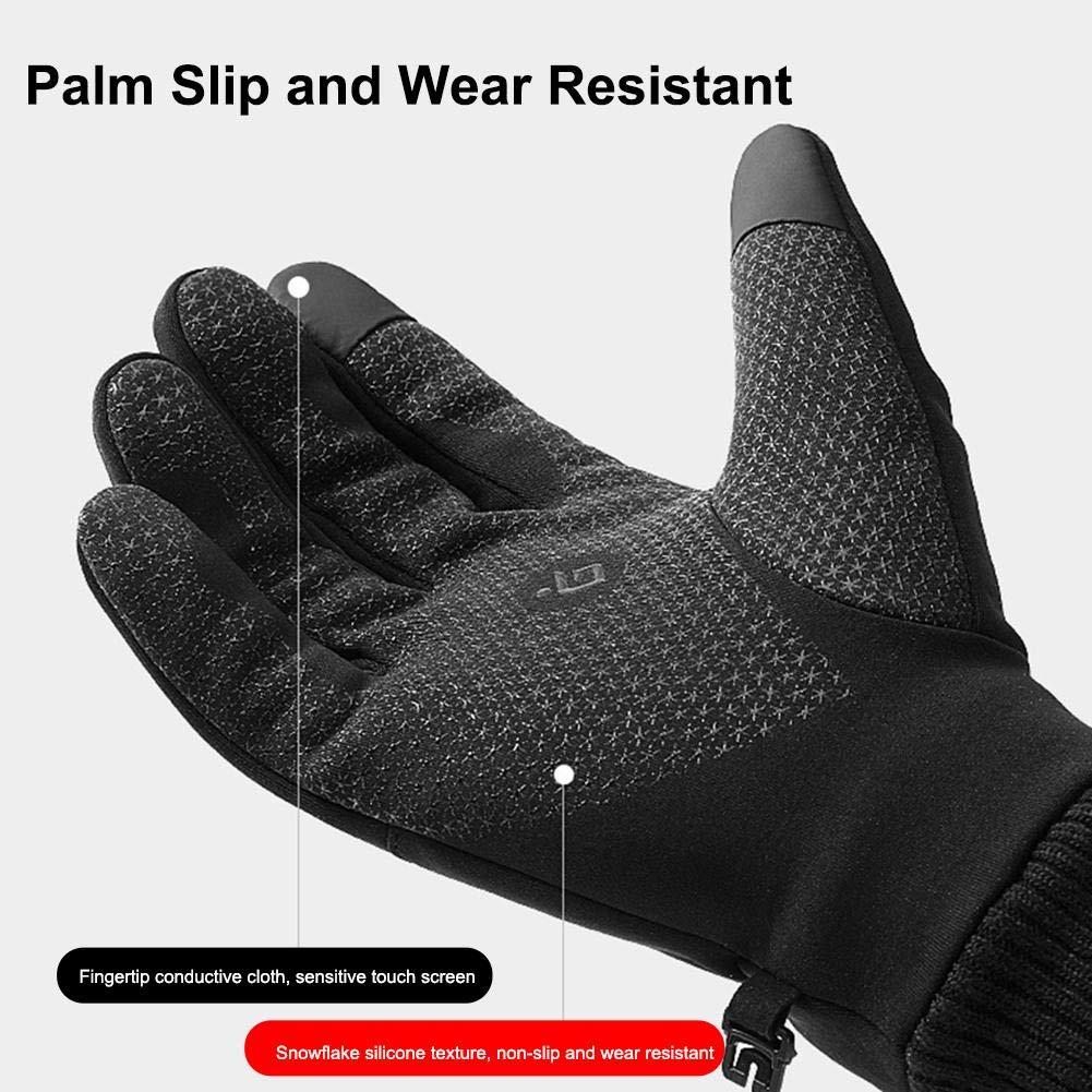 Guantes Impermeables para Moto Guantes De Dedo Completo waterfaill Guantes De Moto De Invierno Negro