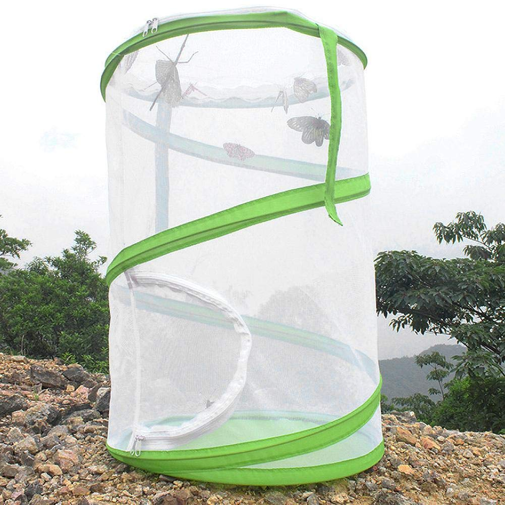 Wifehelper Large Foldable Portable Durable Ventilated Butterfly House Breeding Cage Insect Plant Butterfly Habitat Pet Seedling Incubator