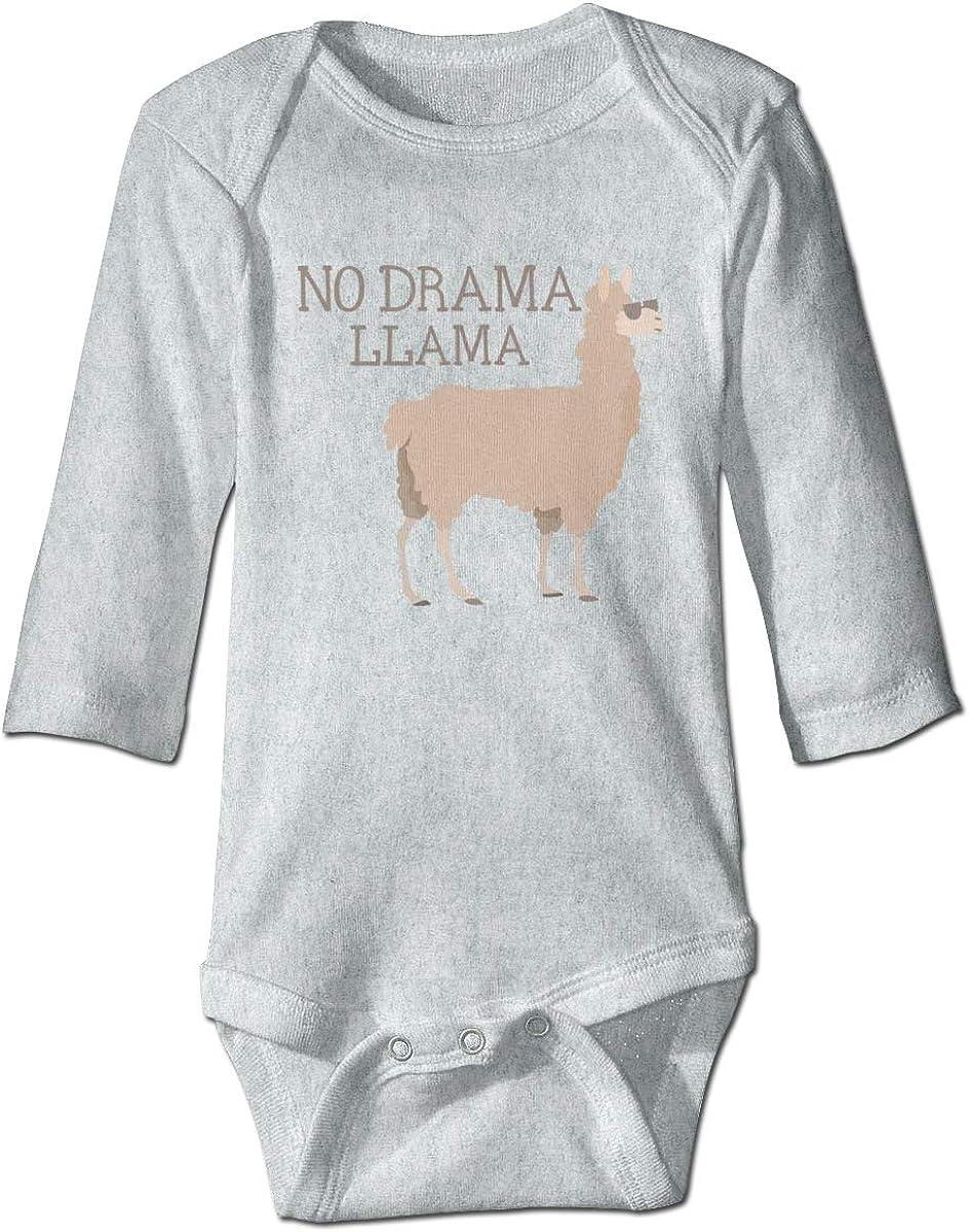 Marsherun Babys Girls and Boys No Drama No Llama Long Sleeve Rompers Playsuit