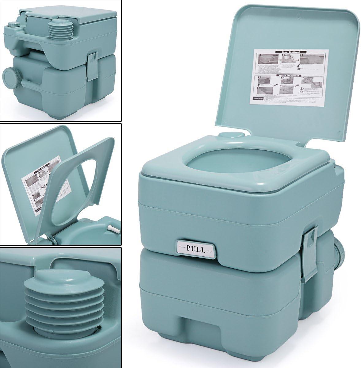 JAXPETY 5 Gallon 20L Flush Outdoor Travel Camping Portable RV Toilet