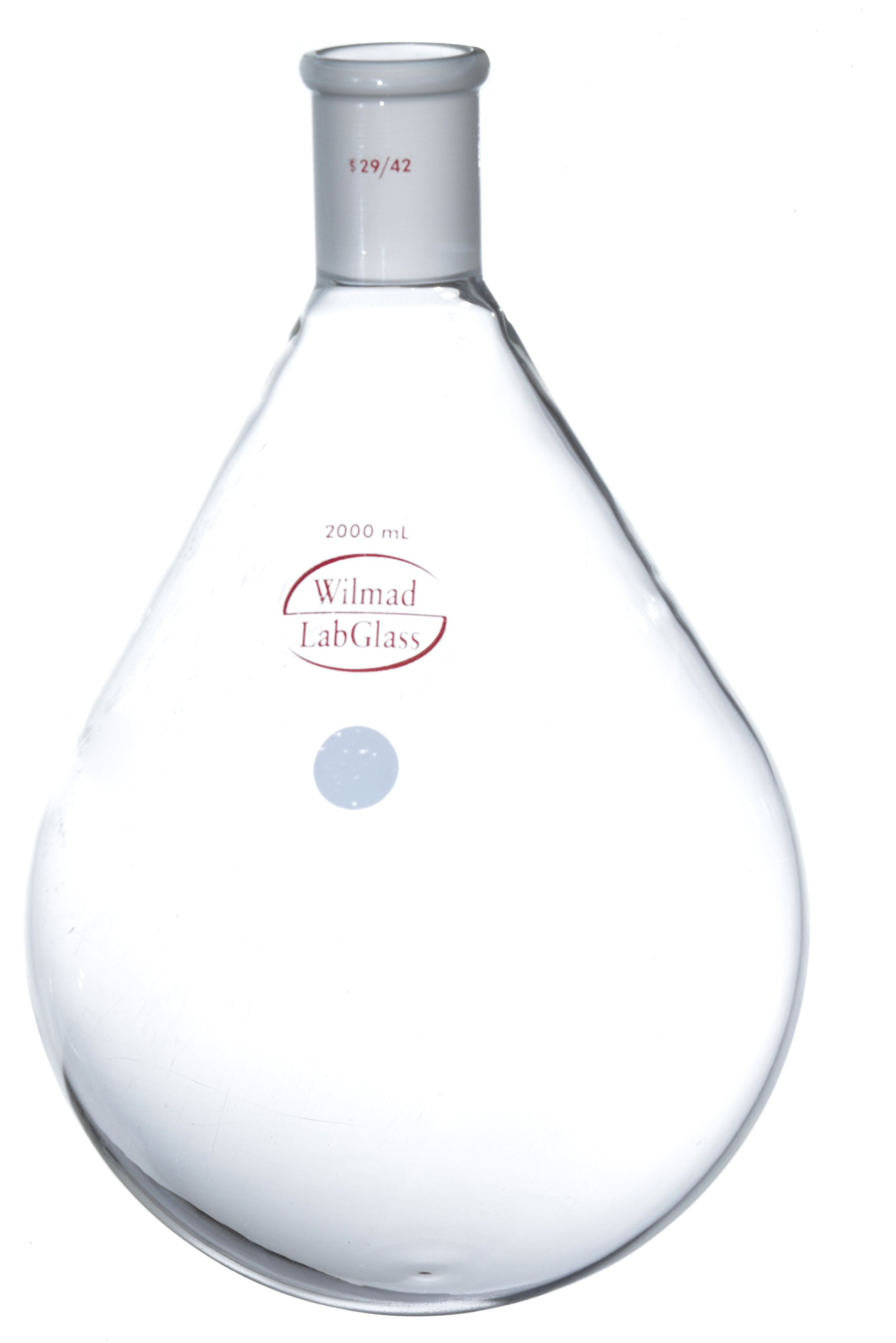 Wilmad LG-7245-130 Borosilicate Glass Recovery Flask, 2000 mL Capacity, 29/42 Standard Taper Joint by SP Scienceware