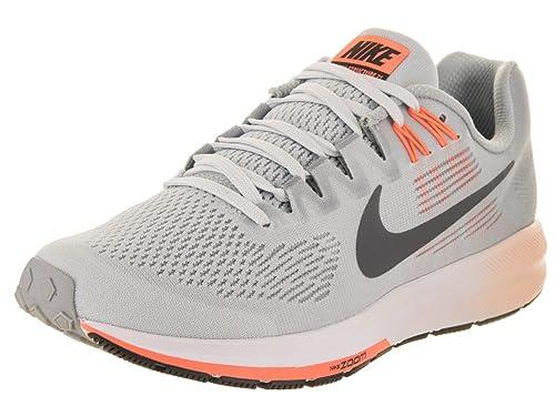 5ff57b69460 Nike Women s Air Zoom Structure 21 Running Shoe Wolf Grey Dark Grey Pure  Platinum