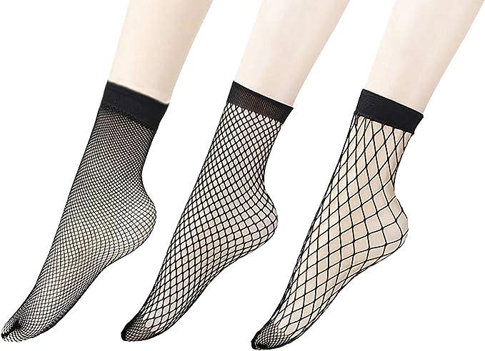 Solid Color Lace Fishnet Socks Short Socks Mesh Net Socks Ankle Socks