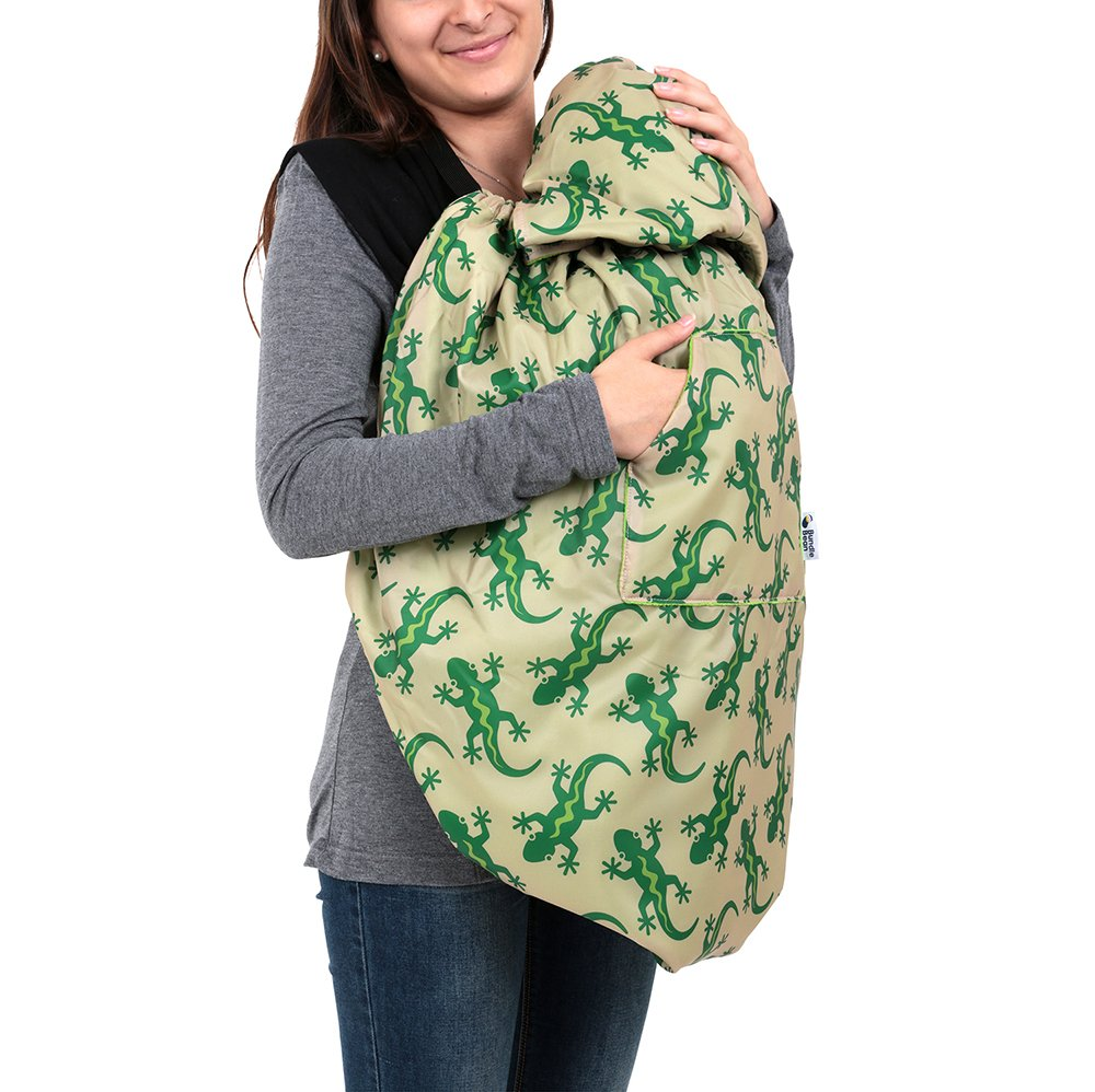 BundleBean babywearing:all-weather waterproof sling and carrier cover (Navy Flamingo)