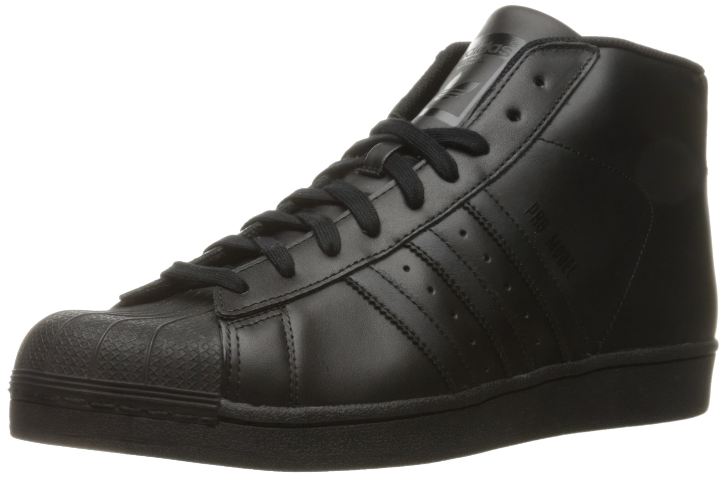 sports shoes d2f27 59a03 Galleon - Adidas Originals Men s Pro Model Fashion Sneaker,  Black Black Black, 5.5 M US