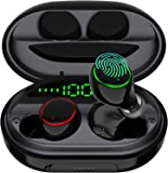 Wireless Earbuds Bluetooth 5.0 with USB Charging Case IPX8 Waterproof HiFi Stereo Noise Cancelling Headphones in Ear…