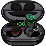 Wireless Earbuds Bluetooth 5.0 with USB Charging Case IPX8 Waterproof HiFi Stereo Noise Cancelling Headphones in Ear Built in