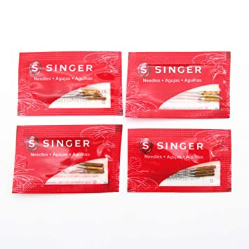 KUNPENG - HAx1 Ballpoint Needles 2045 Ajuste para máquinas de coser Singer Tallas #9, 11, 14,16, 18 (SINGER-HAX1 70/9): Amazon.es: Hogar
