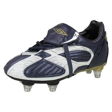 06be0ae5a0d Umbro Boys Studded Football Boots X-600-J SG - Navy/White/Black/Gold ...