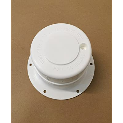 "Autmotive Authority White Plastic Attic/Plumbing Vent Cover 1-1/2"" Pipe Diameter RV Trailer: Automotive"