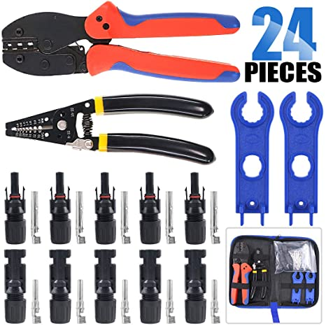 MC3 MC4 Solar Crimping Tools Panel PV Cable Male Female Spanner Wrench Kit Pack