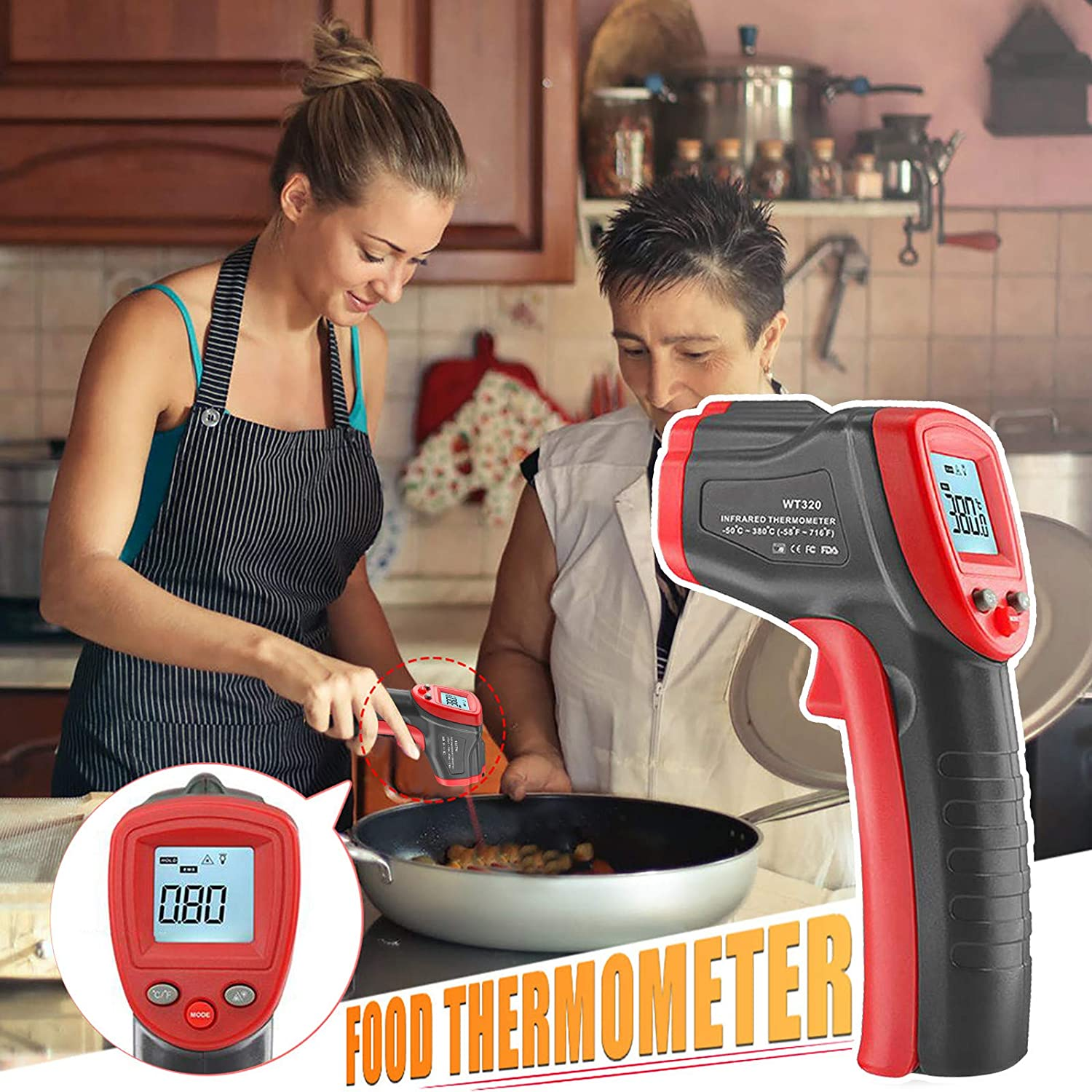 Uamaze High Precision Food Thermometer WAS £47.96 NOW £11.99 w/code SVBXFV95 @ Amazon