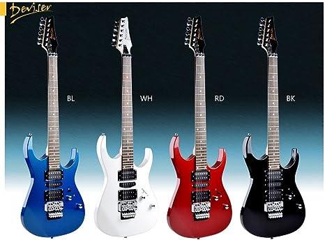 Guitarra eléctrica DEVISER JC de 5 (Blanco): Amazon.es ...