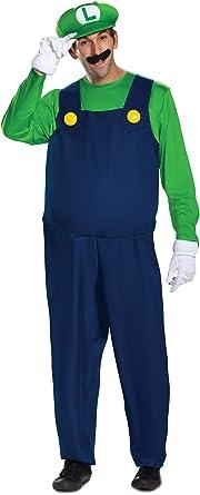 The Super Mario Brothers Mens Luigi Deluxe Costume