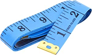 eBoot 60 Inch 150 cm Soft Tailor Tape Measure for Cloth Sewing Waist Bra Head Circumference Tailor Double Sided Cloth Ruler (Blue)