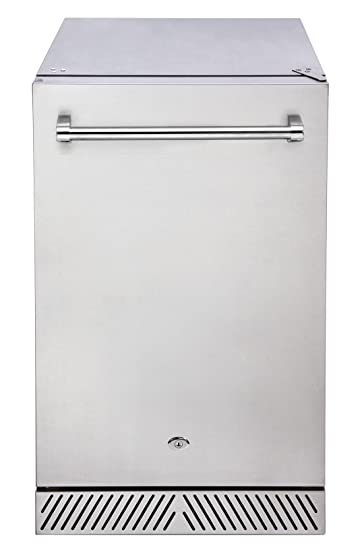 Delta Heat DHOR20 20u0026quot; 4.1 Cubic Foot Outdoor Refrigerator With Locking  Door Adjustable Shelves Auto