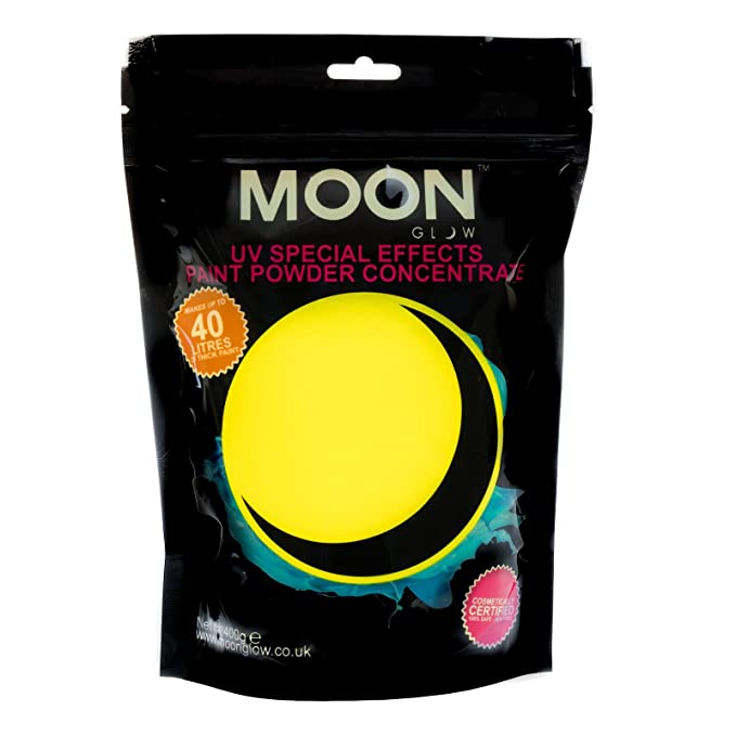Pintura flúor en polvo UV fluorescente de color amarillo